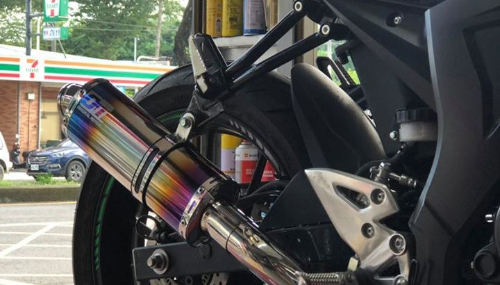 OM capsule color stainless steel titanium color performance exhaust pipe system