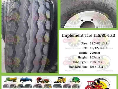 Trailer Tyre 11.5/80-15.3